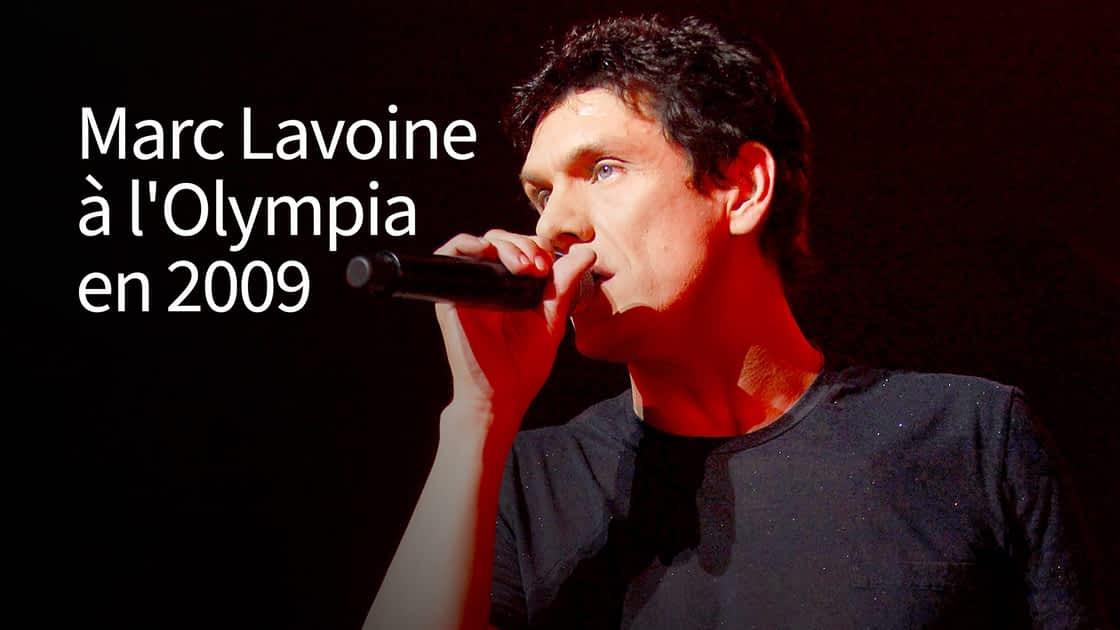 Marc lavoine à l'olympia en 2009 du 04/01