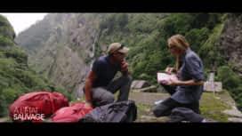 À l'état sauvage : Adriana Karembeu négocie lors de l'inspection de son sac à dos avec Mike Horn