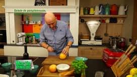 Martin Bonheur : Salade de pamplemousse, mozzarella et basilic