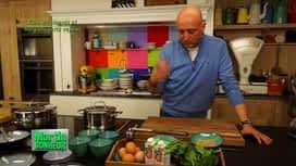 Martin Bonheur : Flan d'épinards et haricots verts vapeur