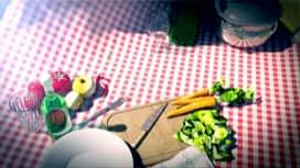 Martin Bonheur : Carpaccio de courge butternut, crumble de pancetta