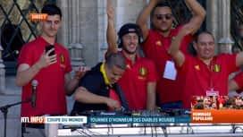 Les Diables Rouges: le retour : Eden Hazard joue les DJ sur la Grand-Place