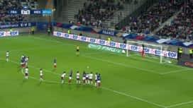 Football - Équipe de france féminine : France - Mexique (88') : but d'Eugénie Le Sommer sur penalty (4 - 0)
