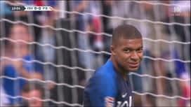 Ligue des Nations : Nouvelle frappe de Kylian Mbappé (10') (0-0)