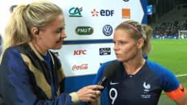 Football - Équipe de france féminine : L'interview d'Eugénie Le Sommer, Capitaine de l'équipe de France féminine de football