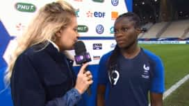 Football - Équipe de france féminine : L'interview de Griedge Mbock Bathy après le match France-Cameroun