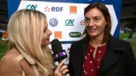 Football - Équipe de France féminine : L'interview de Corinne Diacre après le match France - Brésil