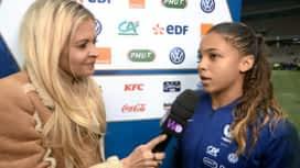Football - Équipe de France féminine : L'interview de Delphine Cascarino après le match France - Brésil