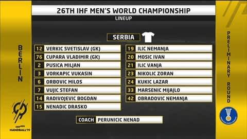 Grupa A - SP2019 : Francuska - Srbija
