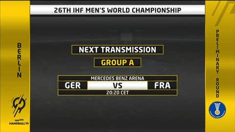 Grupa A - SP2019 : Njemačka - Francuska