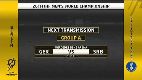 Grupa A - SP2019 : Njemačka - Srbija