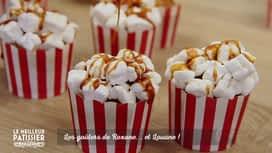 Le meilleur pâtissier - célébrités : Le goûter de Roxane et Louane : des pop-corn en cupcakes