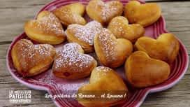Le meilleur pâtissier - célébrités : Le goûter de Roxane et Louane : les beignets en forme de coeur à la...