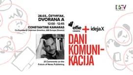 Dani komunikacija 2019. : Constantine Kamaras : 21 Comments on the Future of News Publishing