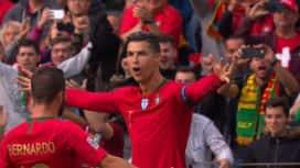 Ligue des Nations : Portugal - Suisse (25') : but de Cristiano Ronaldo
