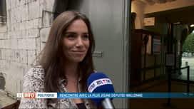 RTL INFO 19H : Rachel Sobry est la plus jeune députée élue au parlement wallon
