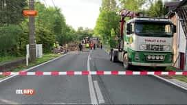 RTL INFO 13H : Rièzes: impressionnant accident impliquant un camion