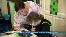 RTL INFO 13H : Des élèves de l'enseignement spécialisé passent leur CEB ce mercredi