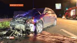 RTL INFO 13H : Quatre blessés dans un accident à Montigny-le-Tilleul