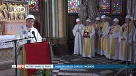 RTL INFO 19H : Une messe dite ce soir à Notre-Dame de Paris 2 mois après l'incendie