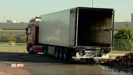RTL INFO 13H : Un camion de charbon de bois a pris feu à Gosselies