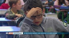 RTL INFO 19H : 55.000 élèves ont débuté les épreuves du CEB ce matin