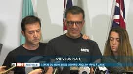 RTL INFO 19H : Appel déchirant du père de Théo Hayez, disparu en Australie