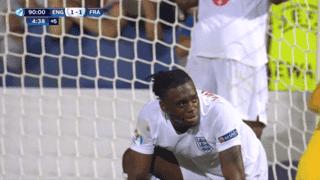 Angleterre U21 - France U21 (95') : But contre son camp d'Aaron Wan-Bissaka