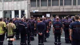 RTL INFO 13H : Des pompiers manifestent dans le centre de Bruxelles