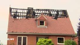 RTL INFO 19H : Beloeil : la foudre provoque un début d'incendie dans une maison