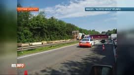 RTL INFO 19H : Un poids-lourd sur le flanc entrave la circulation à Custinne
