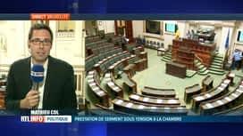 RTL INFO 13H : Prestation de serment sous haute tension au Parlement fédéral