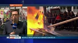 RTL INFO 13H : Les pompiers bruxellois manifestent à nouveau leur colère