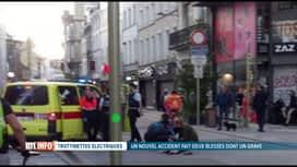 RTL INFO 13H : Grave accident entre 2 trottinettes électriques à Bruxelles