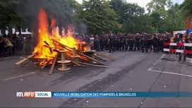 RTL INFO 19H : Les pompiers bruxellois manifestent à nouveau leur colère