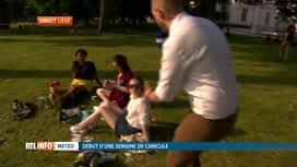 RTL INFO 19H : Canicule: les Liégeois profitent d'une soirée très douce