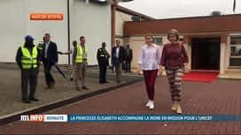 RTL INFO 13H : Première mission pour la princesse Elisabeth au Kenya avec sa mère
