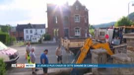 RTL INFO 13H : Canicule: adaptation des horaires des ouvriers communaux à Huy