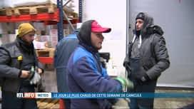 RTL INFO 13H : Canicule: gros contrastes pour ceux qui travaillent dans le froid
