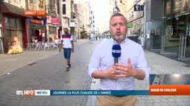 RTL INFO 19H : Canicule: dans quelle région a-t-il fait le plus chaud aujourd'hui?