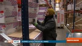 RTL INFO 19H : Canicule: gros contrastes pour ceux qui travaillent dans le froid