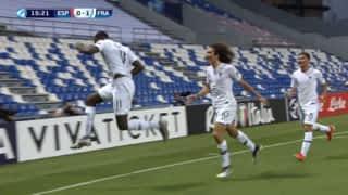 Espagne U21 - France U21 (15') : pénalty transformé par Jean-Philippe Mateta