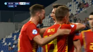Espagne U21 - France U21 (45') : pénalty transformé par Mikel Oyarzabal