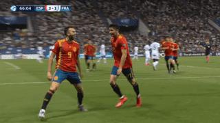 Espagne U21 - France U21 (66') : but de Borja Mayoral