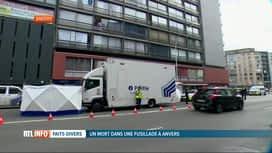 RTL INFO 19H : Un homme abattu par balles par la police dans un bâtiment d'Anvers