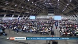 RTL INFO 13H : Examen d'entrée en médécine et en dentisterie pour 4000 jeunes
