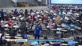 RTL INFO 19H : Examen d'entrée en médécine et en dentisterie pour 4000 jeunes