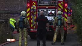 RTL INFO 13H : Violent incendie dans une maison à Jumet