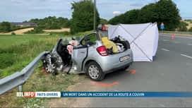 RTL INFO 13H : Une octogénaire perd la vie dans un accident de la route à Pesche