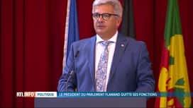 RTL INFO 19H : Le président du Parlement flamand Kris Van Dijck démissionne